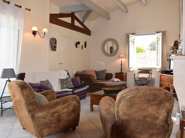 location de villa de luxe à l'île le de Ré maison la flotte